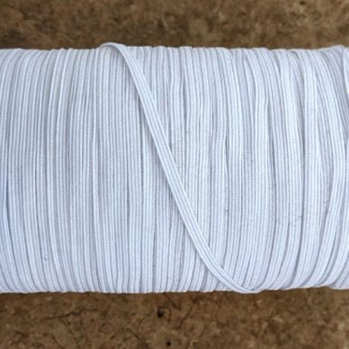 Flat Elastic 3mm Cream off white - William Gee UK