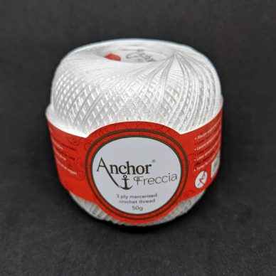 Anchor Freccia 12 Crochet Thread White - William Gee Haberdashery