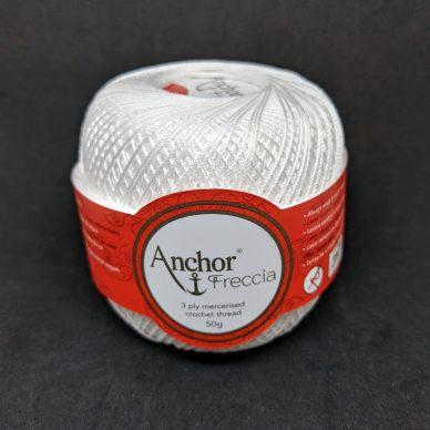 Anchor Freccia 12 Crochet Thread White - William Gee Haberdashery