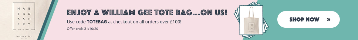 Free Tote Bag Offer at William Gee UK