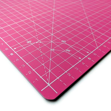 Olfa Cutting Mat A3 Pink Closeup - William Gee UK
