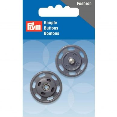 Prym Buttons Snap Fasteners Grey 341838 - William Gee UK
