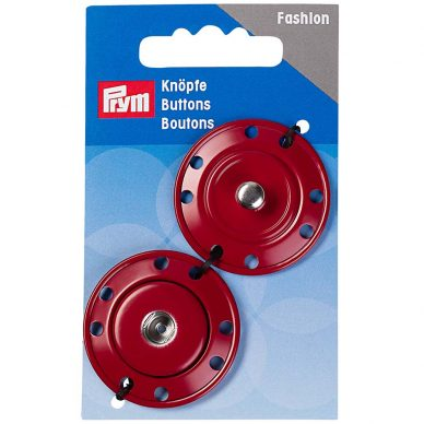 Prym Buttons Snap Fasteners Red 341832 - William Gee UK
