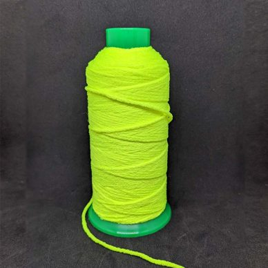 Soft Fuzzy Elastic 2mm round Fluorescent Yellow - William Gee UK