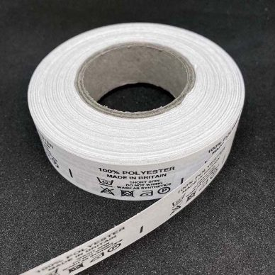 100 polyester made in britain Care Label - William Gee UK