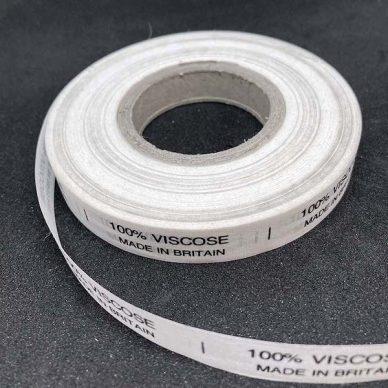 100 viscose Care Label - William Gee UK