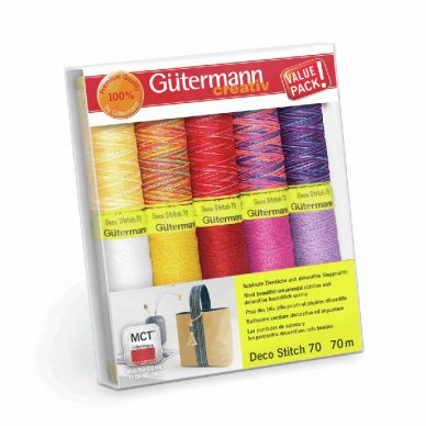 Gutermann Deco Stitch 70 Box of 10 threads - William Gee UK