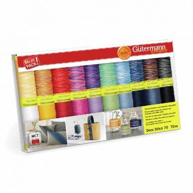 Gutermann Deco Stitch 70 Box of 20 threads - William Gee UK