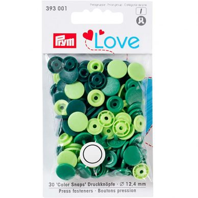 Prym Love Colour Snaps Greens 393001 - William Gee UK