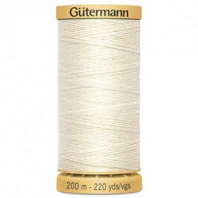 Gutermann Basting Thread 200m Natural - William Gee UK