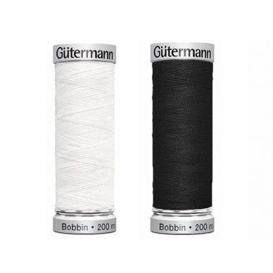Gutermann Bobbin Thread White and Black - William Gee UK