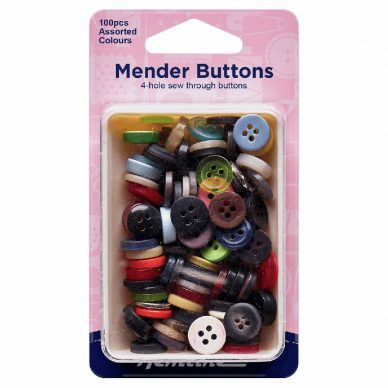 Hemline Mender Buttons 100 pieces - William Gee UK