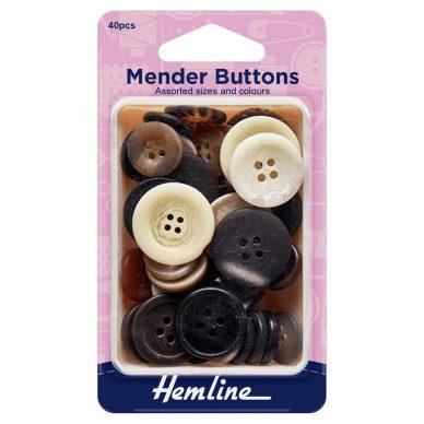 Hemline Mender Buttons 40 pieces - William Gee UK