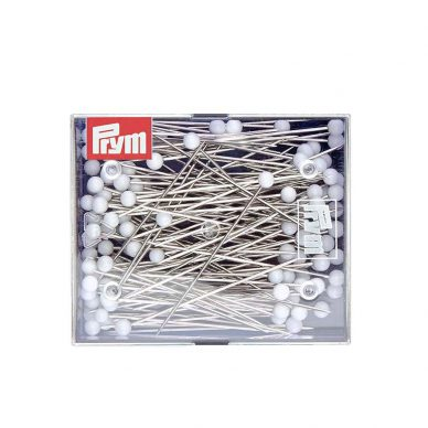 Prym Glass Headed Pins 10g White 029208 - William Gee UK