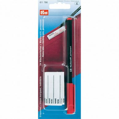 prym-name-tabs-marking-pen-permanent-red-611786 - William Gee UK