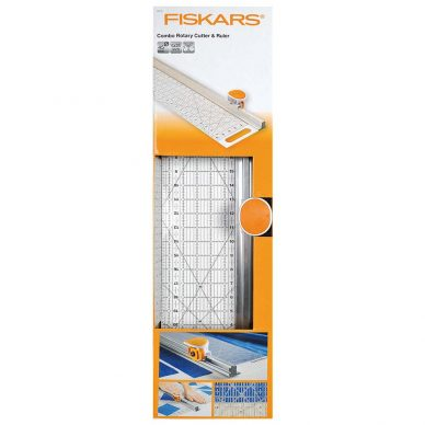 Fiskars Rotary Cutter and Combo Ruler 6 x 24 - William Gee UK