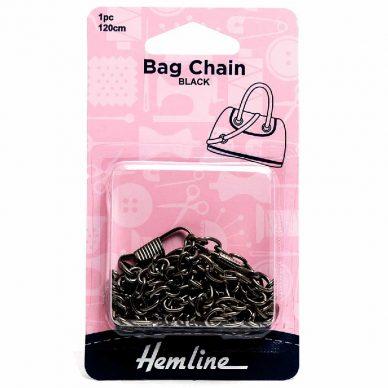 Hemline Bag Chain Black 120cm - William Gee UK