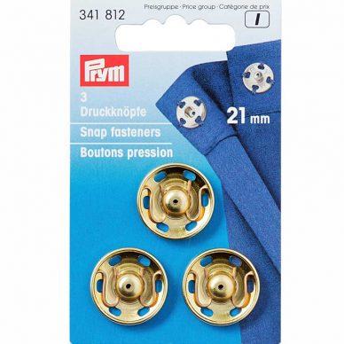 Prym Snap Fasteners Gold 21mm - William Gee UK