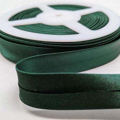 Satin Bias Binding 19mm Bottle Green - William Gee UK