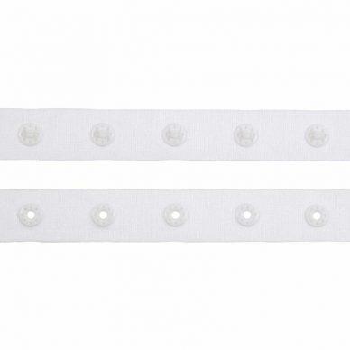Snap Popper Tape 18mm White - WIlliam Gee UK