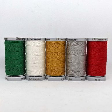 Gutermann Extra Strong Assorted - Christmas Colours - William Gee UK